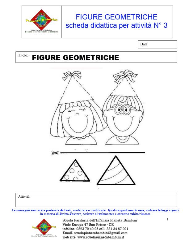 11 le figure geometriche schede didattiche scuola